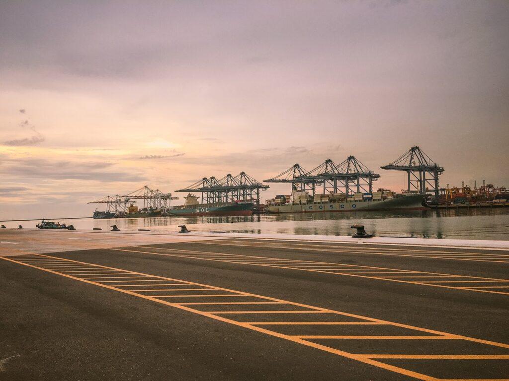 harbor, container, port